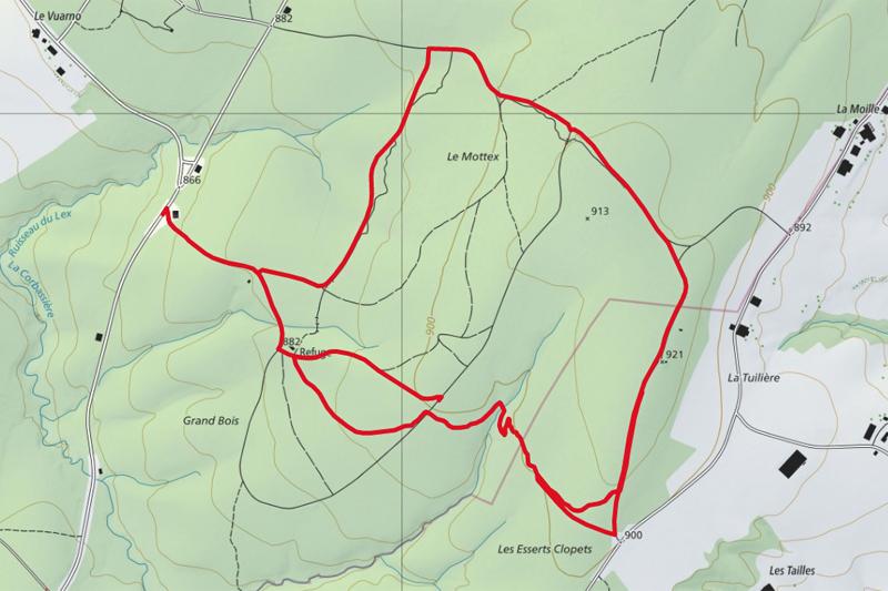 Randonnée - Villars-Tiercelin, parcours Handicap & Nature - Carte