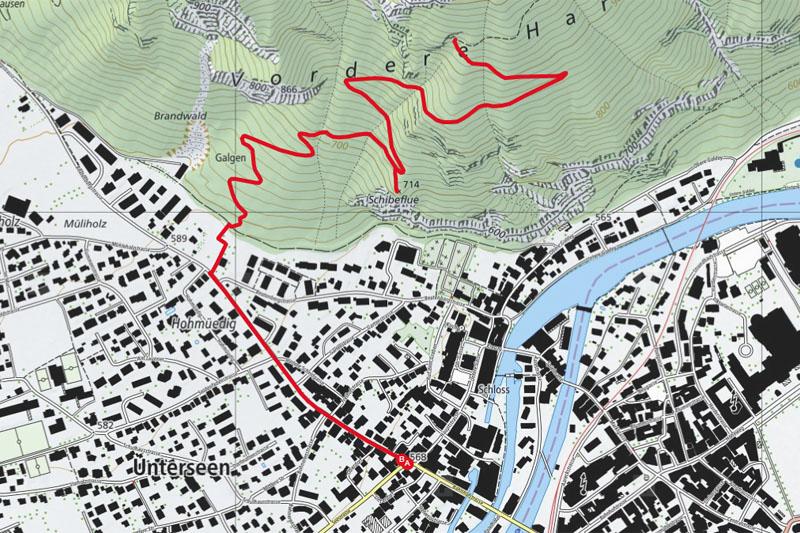 Randonnée - Harderklum - Carte