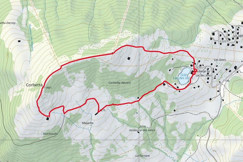 Randonnée - Lac des Joncs - Carte