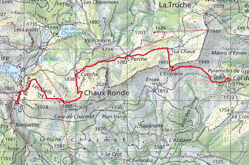 Randonnée - Villars Rando – Randonnée géologique - Carte