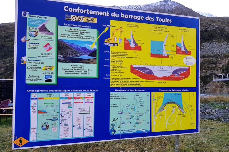 Randonnée - Lac des Toules - Barrage des Toules
